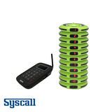 Syscall Guest Pager, 10 pcs Set with 1 pc Charger & 1 pc Transmitter, Doughnut Type