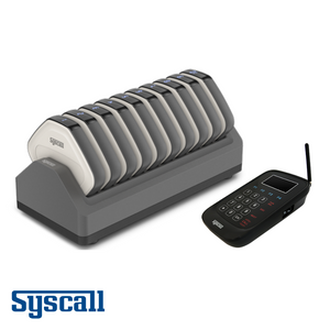 Syscall Signature Guest Pager, 10 pcs Set with 1 pc Charger & 1 pc Transmitter, Diamond Pager