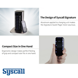 Syscall Signature Guest Pager, 10 pcs Set with 1 pc Charger, Compact Pager