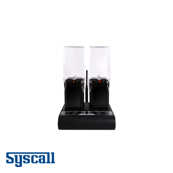 Syscall All in One Guest Pager, 6 pcs Set with 1 pc Charger and inbuilt Transmitter, Slim Type