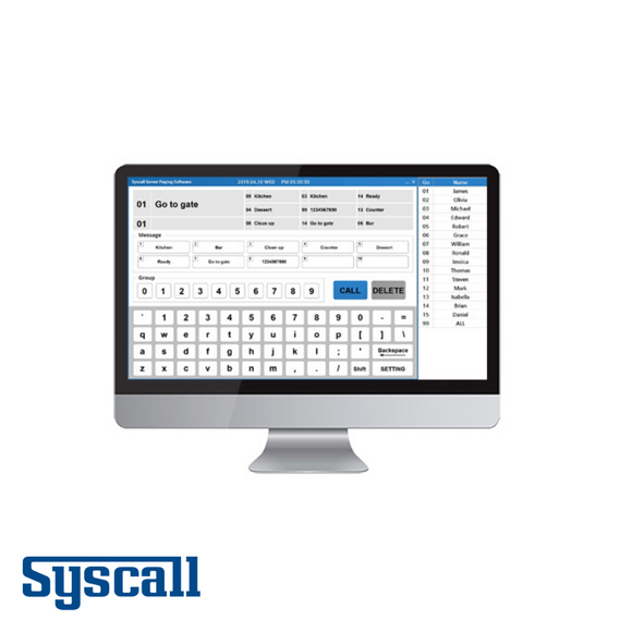 Syscall SRT-8200_PC Transceiver with Server Paging Software to transfer signals from PC