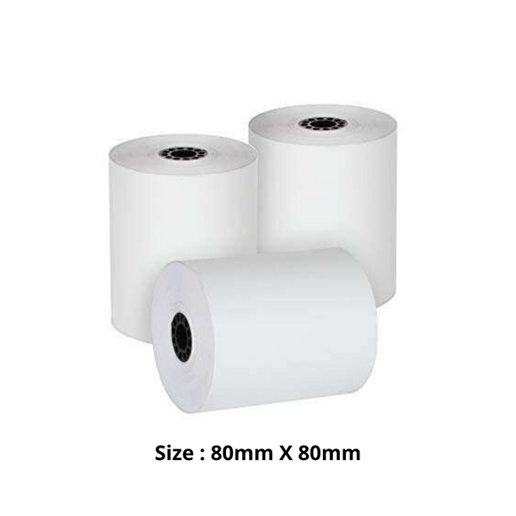 Thermal Paper Roll, Size 80mm X 80mm, 50 Rolls / Carton