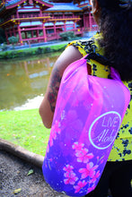 "Load image into Gallery viewer, Cherry Blossom Pattern ""LIVE ALOHA"" Dry Bag 