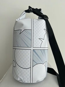 "Black and White Comic Book Pattern ""LIVE ALOHA"" Dry Bag 