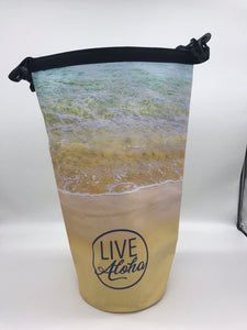 "Beach Scene ""LIVE ALOHA"" Dry Bag 