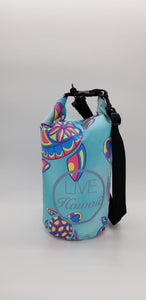 "Colorful Turtle Pattern ""LIVE HAWAII"" Dry Bag 