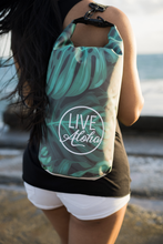 "Load image into Gallery viewer, Monstera Pattern ""LIVE ALOHA"" Dry Bag 