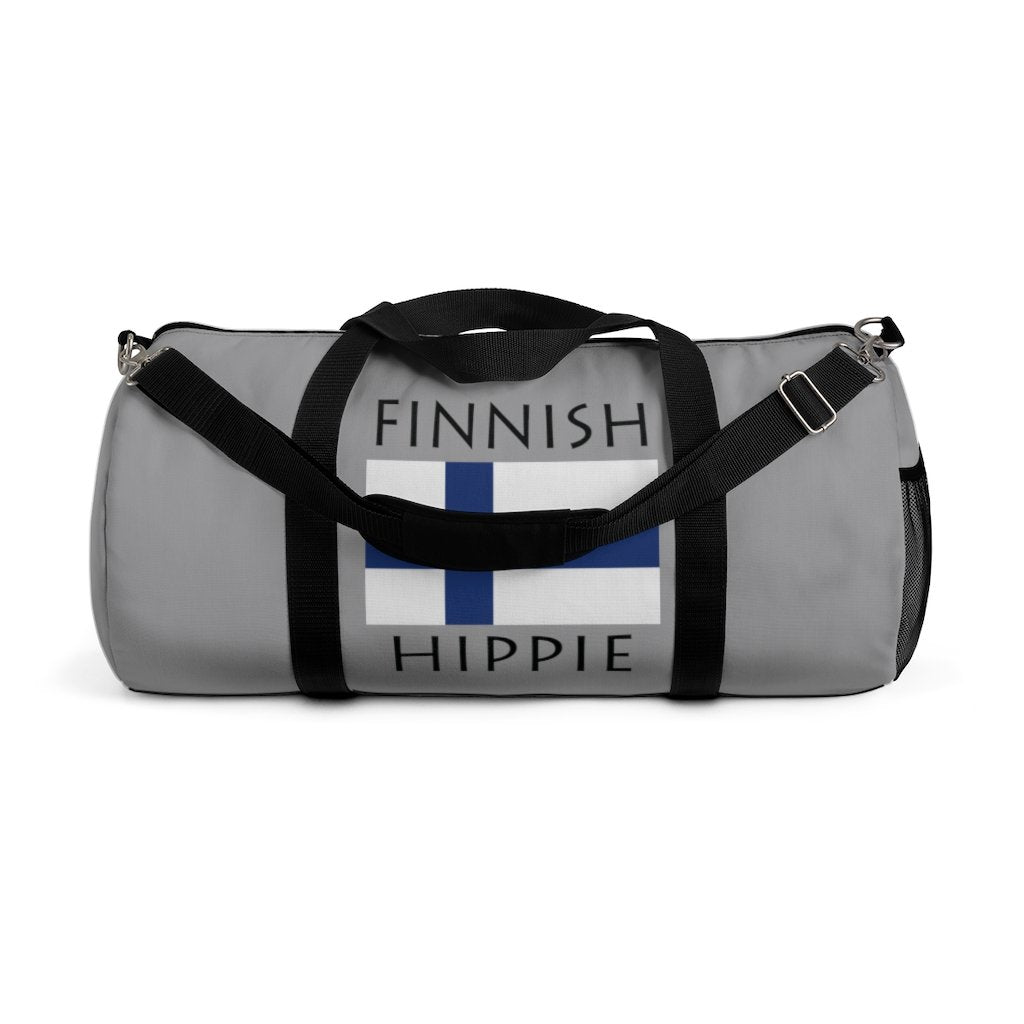 Finnish Flag Hippie™ Carry Everything Duffel Bag