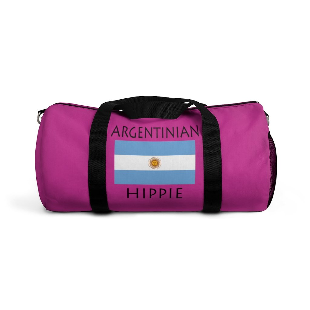 Argentinian Flag Hippie™ Carry Everything Duffel Bag