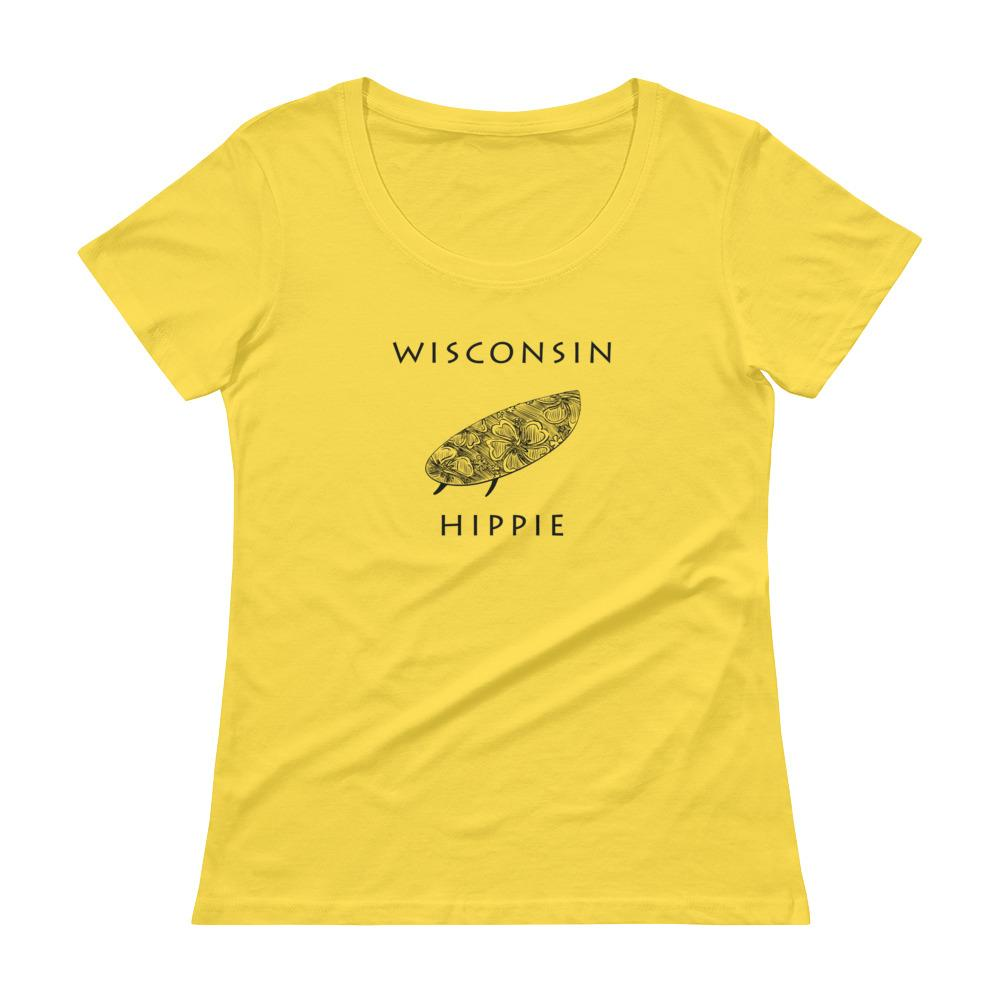 Wisconsin Surf Hippie Women's Scoopneck T-Shirt