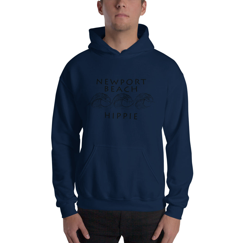 Newport Beach Ocean Hippie Hoodie--Men's