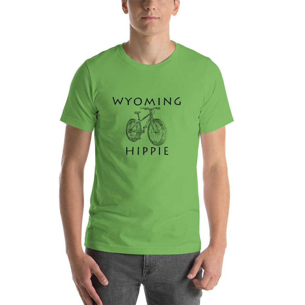 Wyoming Bike Hippie Unisex Jersey T-Shirt