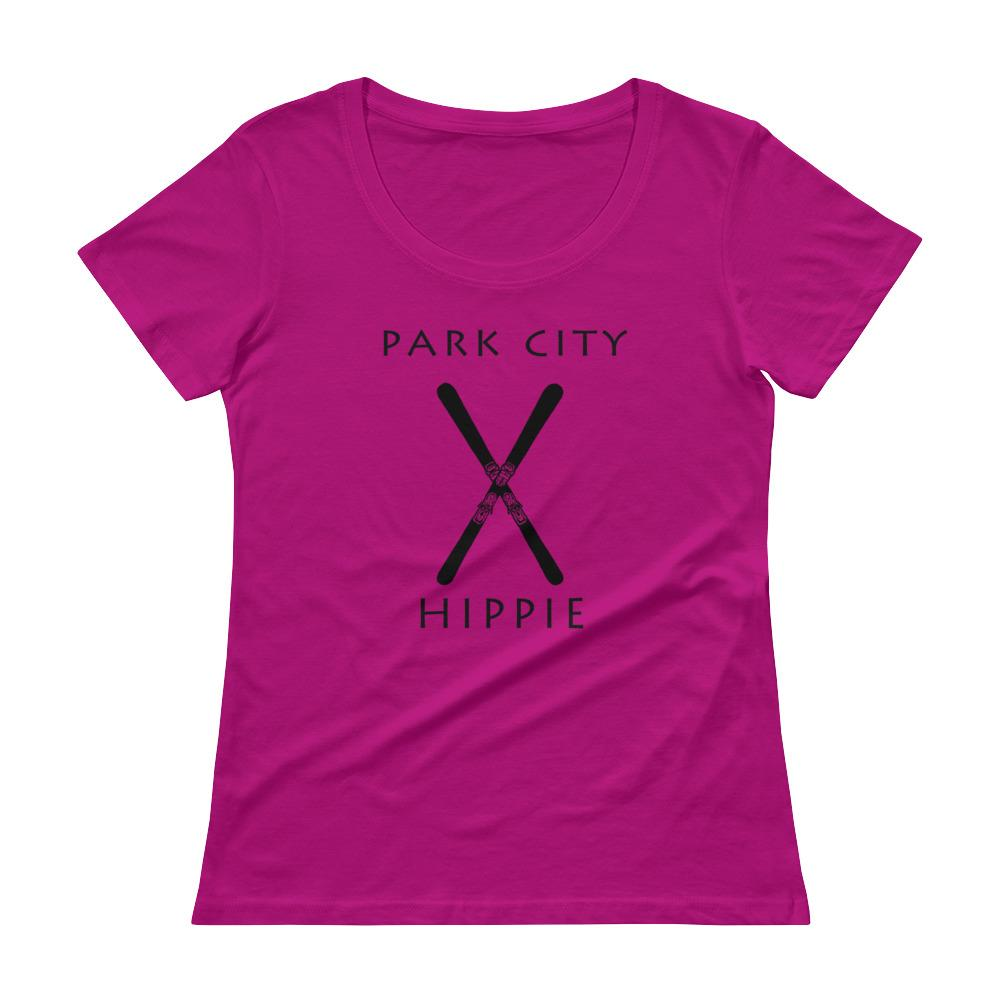 Park City Ski Hippie Women's Scoopneck T-Shirt