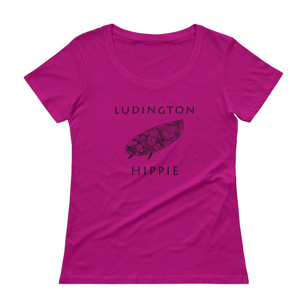 Ludington Surf Hippie Women's Scoopneck T-Shirt