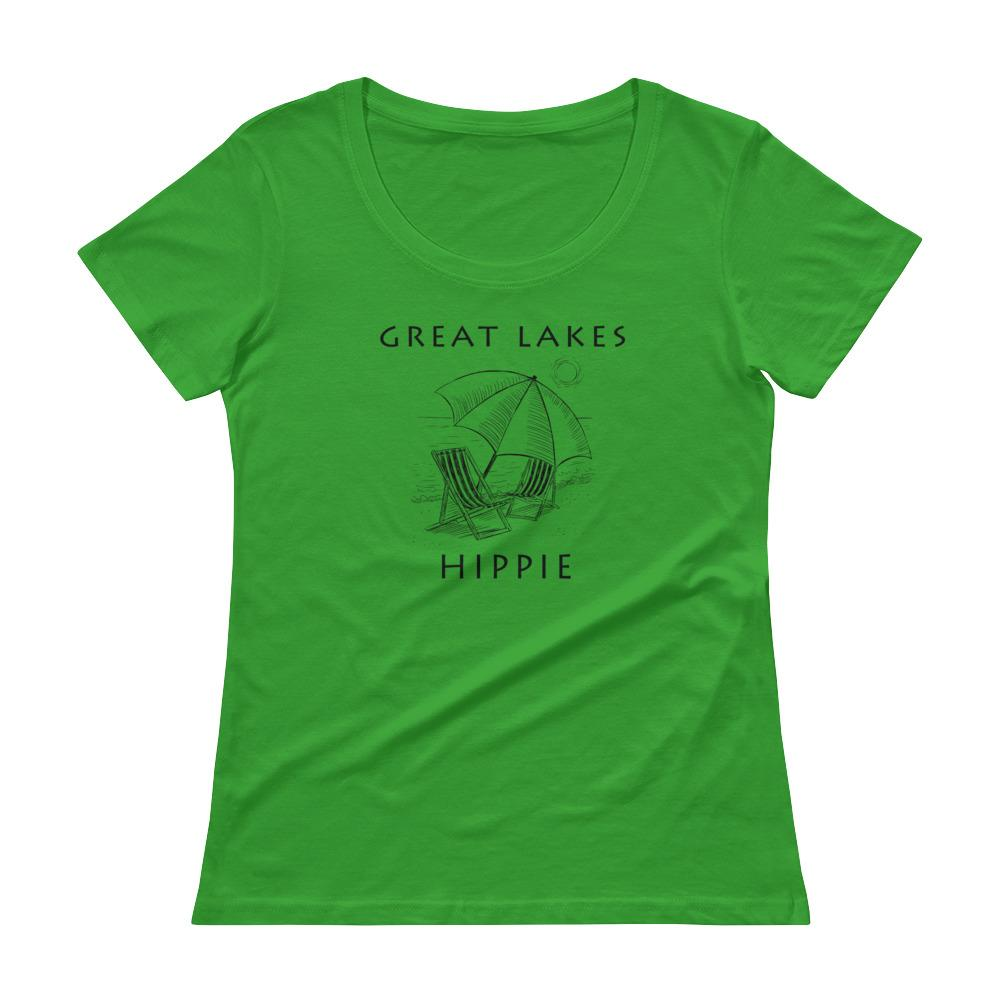 Great Lakes Beach Hippie™ Women's Scoopneck T-Shirt