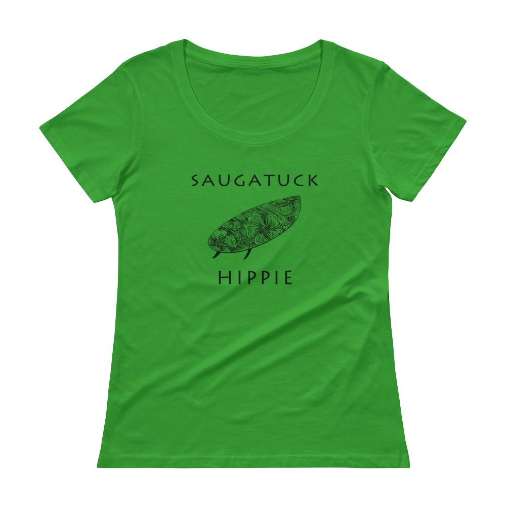 Saugatuck Surf Hippie™ Women's Scoopneck T-Shirt
