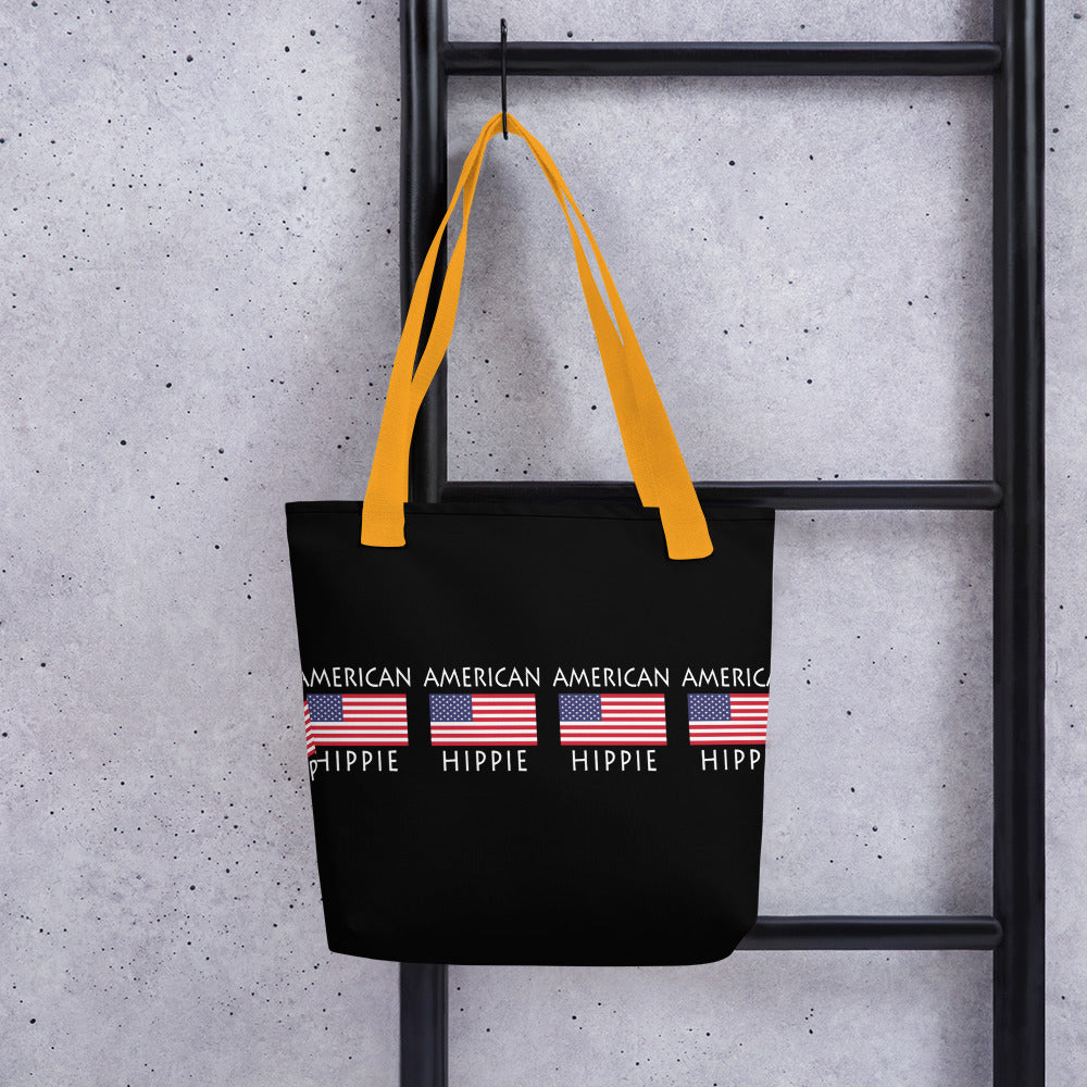 American Flag Hippie™ Carry Everything Tote bag