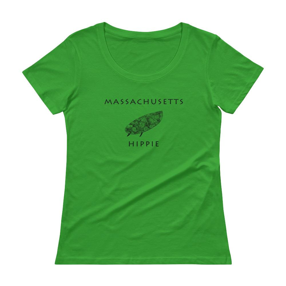 Massachusetts Surf Hippie Women's Scoopneck T-Shirt