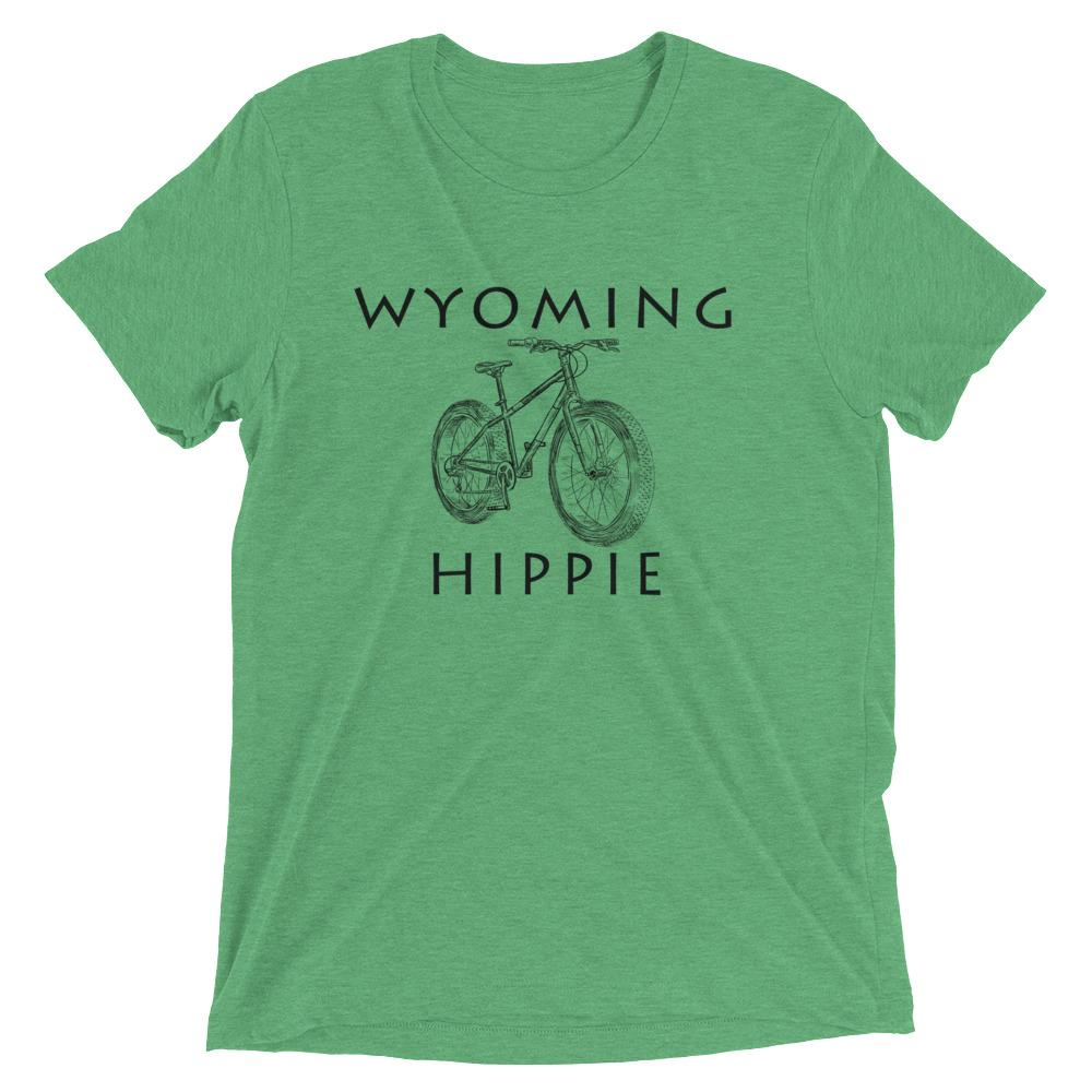 Wyoming Bike Hippie Unisex Tri-blend T-Shirt