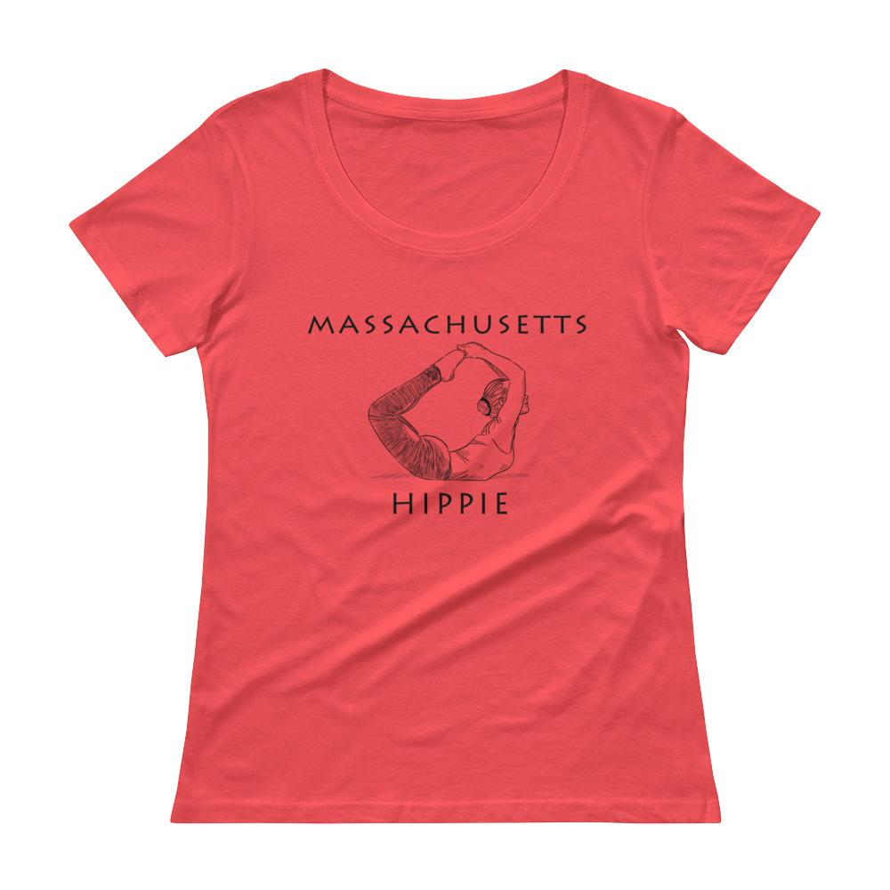 Massachusetts Yoga Hippie Women's Scoopneck T-Shirt