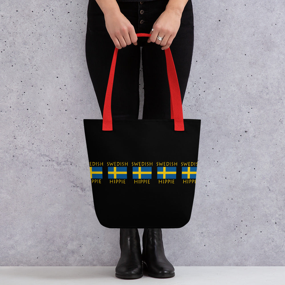 SWEDISH FLAG HIPPIE™ CARRY EVERYTHING Tote Bag