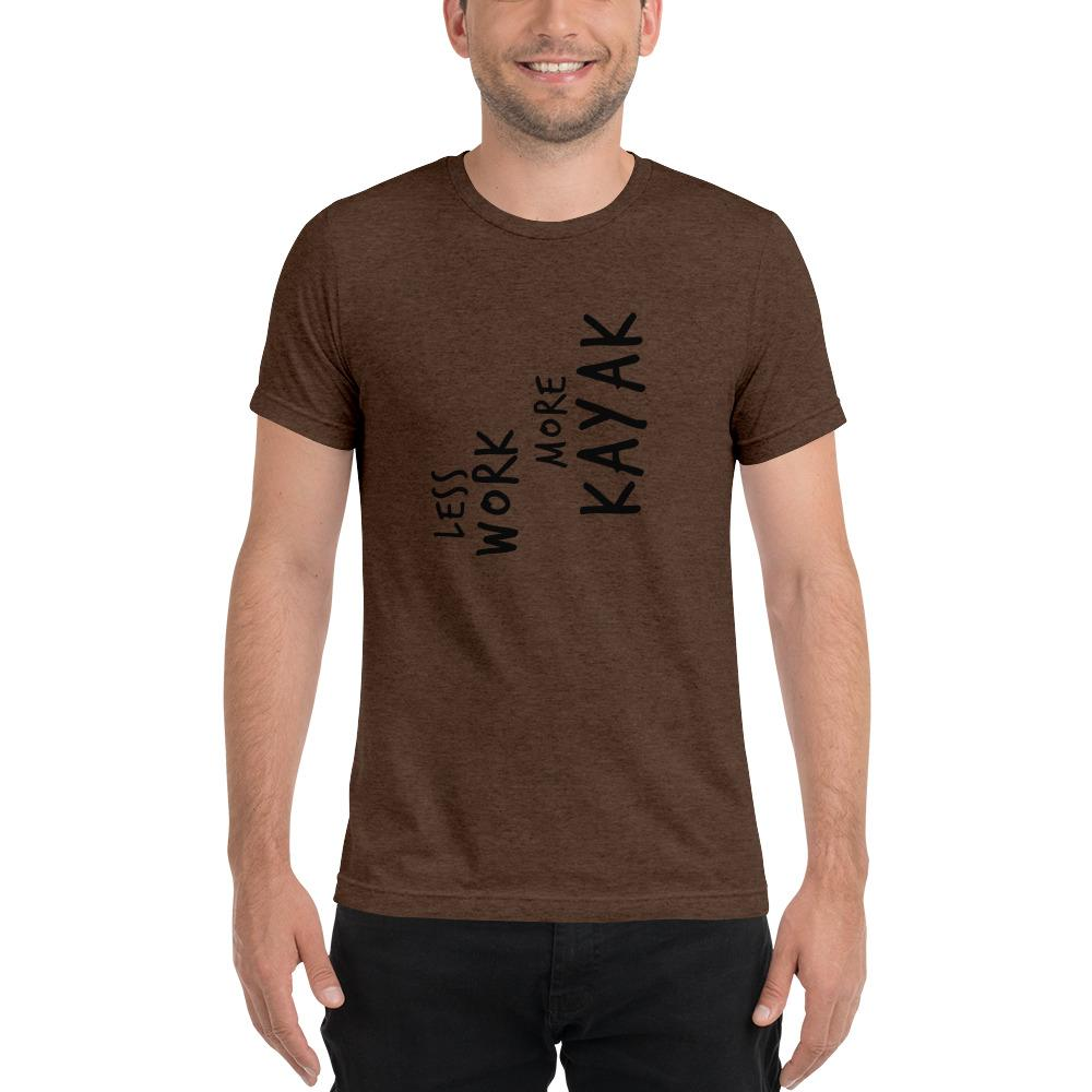 LESS WORK MORE KAYAK™ Unisex Tri-blend t-shirt