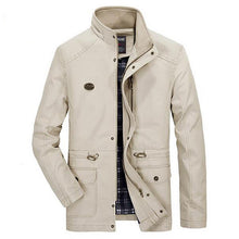 Laden Sie das Bild in den Galerie-Viewer, Autumn winter men's washed coat men fashion casual jacket