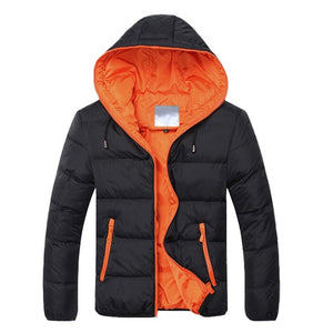 Men Winter Hooded Jacket Long Sleeve Thicken Puffer Padded Coat Warm Ultralight