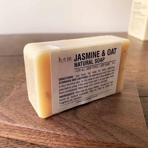 Natural Soap - Jasmine & Oat-Hom fragrances-Comfily Living