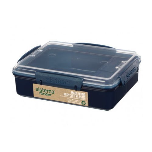 Sistema® Renew™ Recycle Plastic Snack Duo Box (975ml)-Sistema-Comfily Living