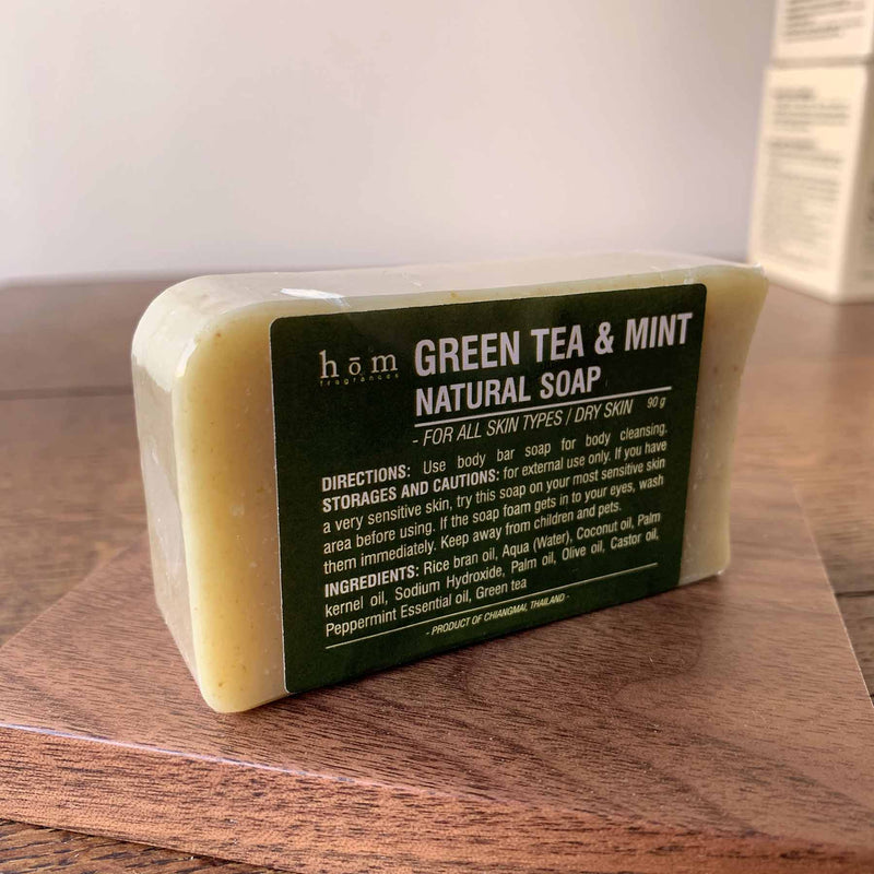 Natural Soap - Green Tea & Mint-Hom fragrances-Comfily Living