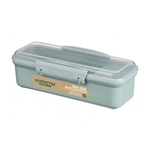 Sistema® Renew™ Recycle Plastic Snack Box (410ml)-Sistema-Comfily Living