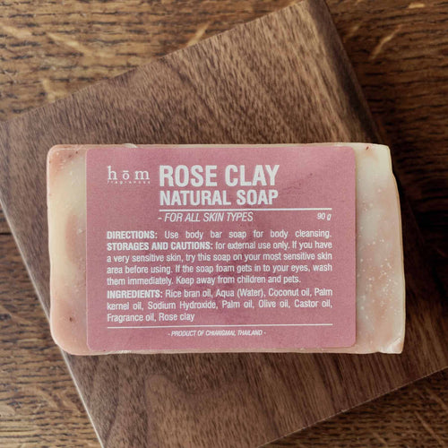 Natural Soap - Rose Clay-Hom fragrances-Comfily Living