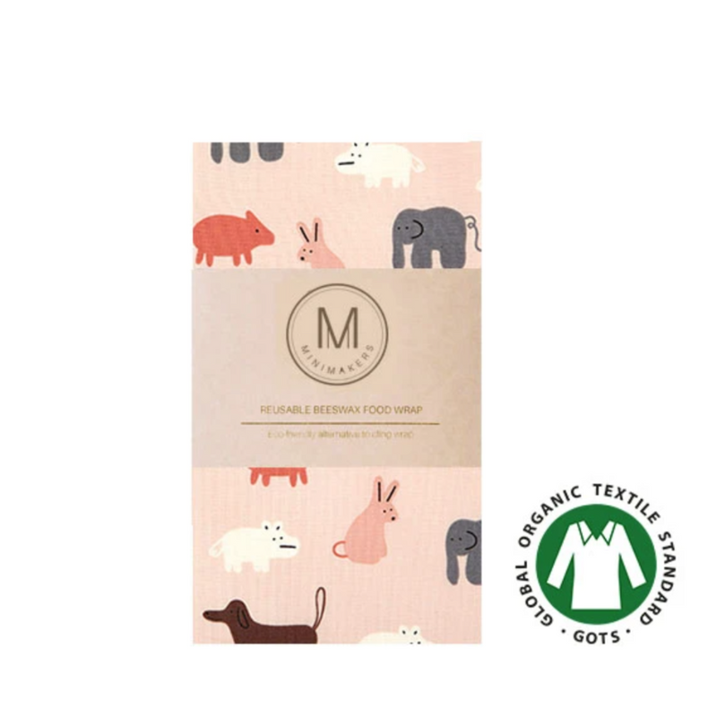Organic Cotton Beeswax Wrap (Animal Farm)