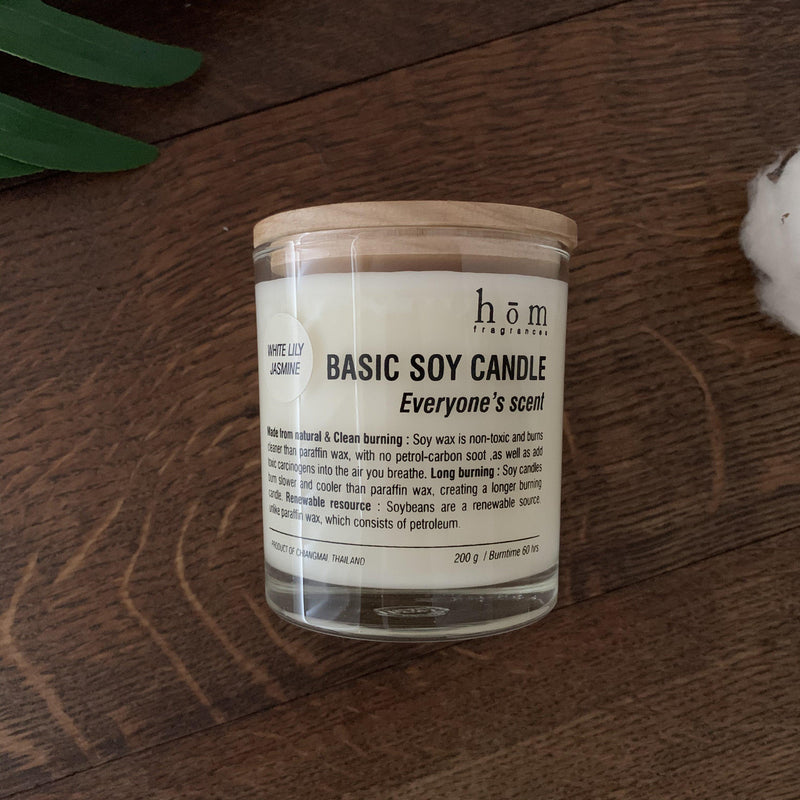 Soy Candle (White Lily Jasmine)-Hom fragrances-Comfily Living