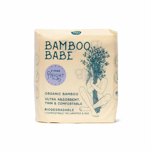 Biodegradable Bamboo Sanitary Pads (NIGHT) > Bamboo Babe> Comfily Living Hong Kong