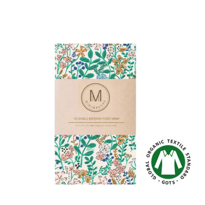 Organic Cotton Beeswax Wrap (Floral)