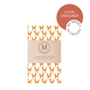 Organic Cotton Beeswax Wrap by My Sweet Scarlett (Foxies) - Comfily Living