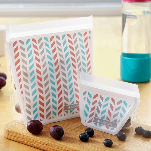 Full Circle ZIPTUCK Food Bag (Chevron) 2 bags