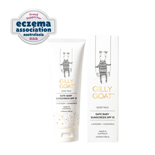 Gilly Goat Safe Baby Mineral Sunscreen SPF15 (125ml)