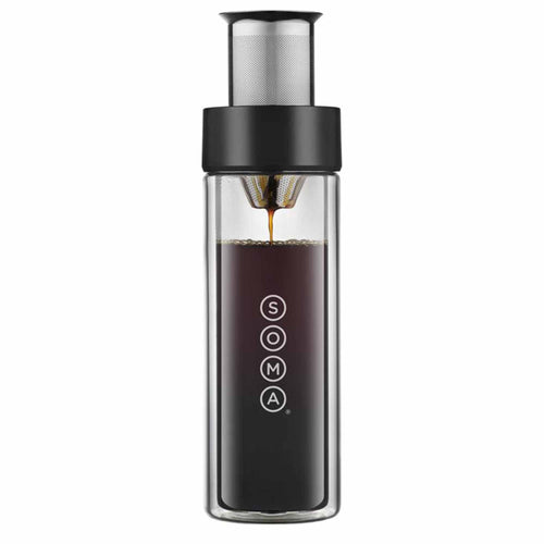 Glass Brew Bottle (Black)-SOMA-Comfily Living