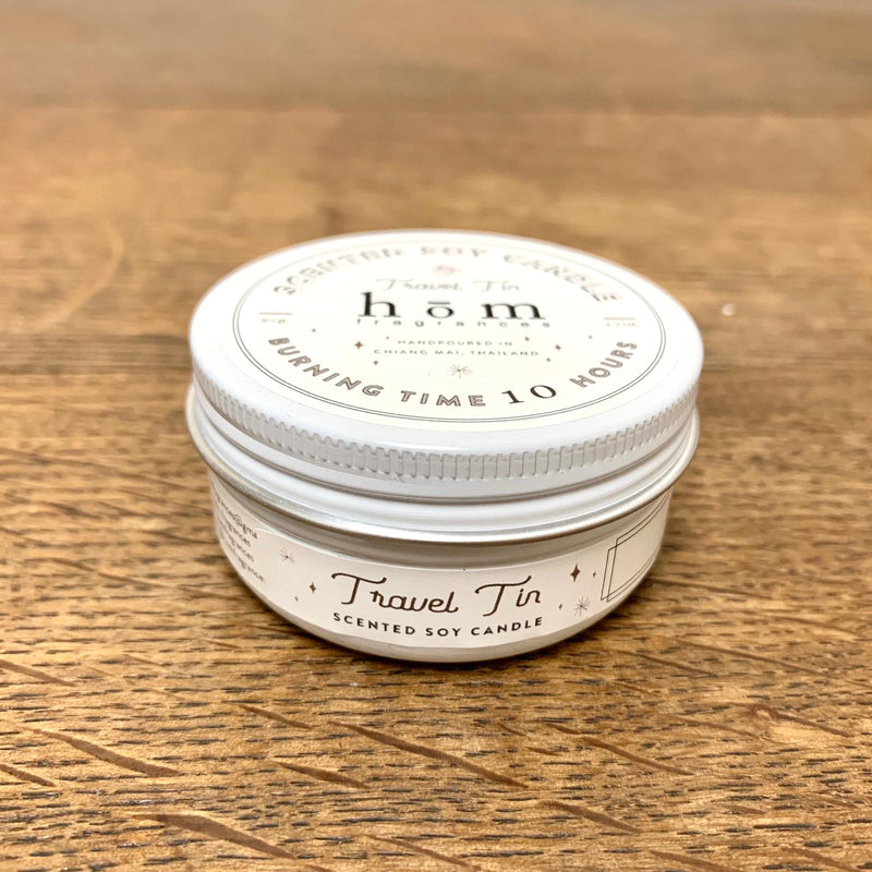 Hom Fragrances Eco Soy Candle Travel Tin - Comfily Living