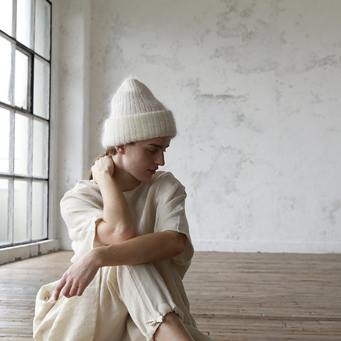 Juri Reversible Fuzzy Knit Hat