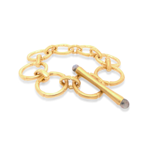 Bamboo Link Chain Bracelet - Big Bag