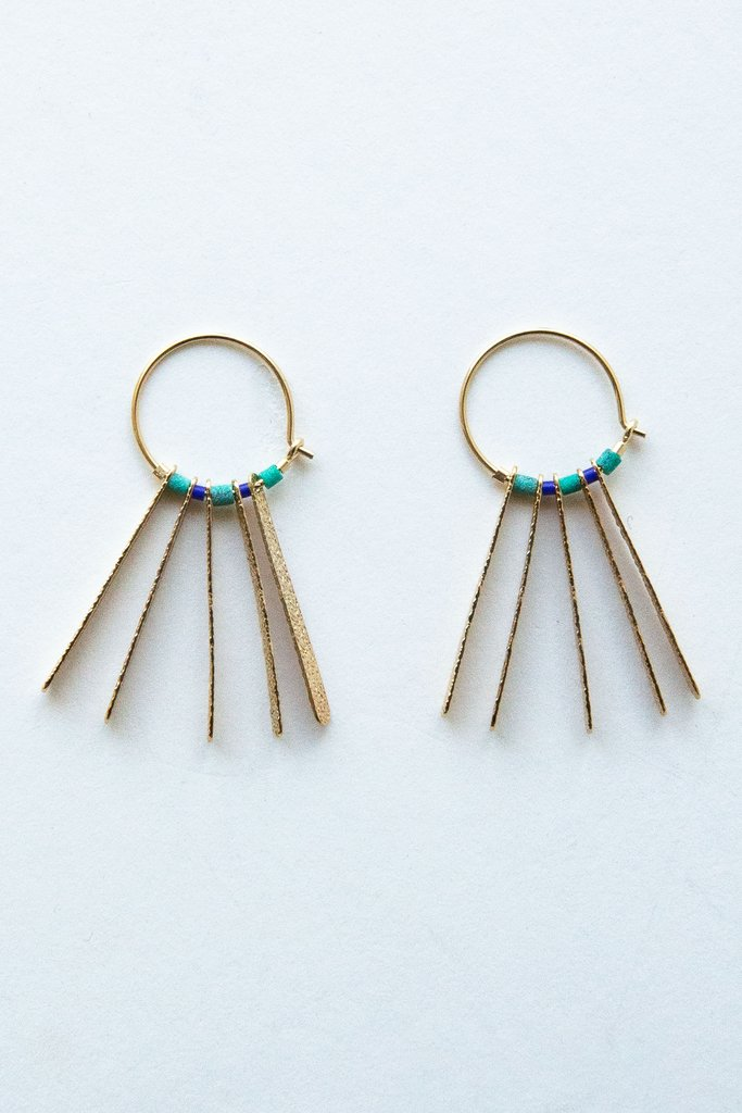 Turquoise Fringe Earring - Big Bag