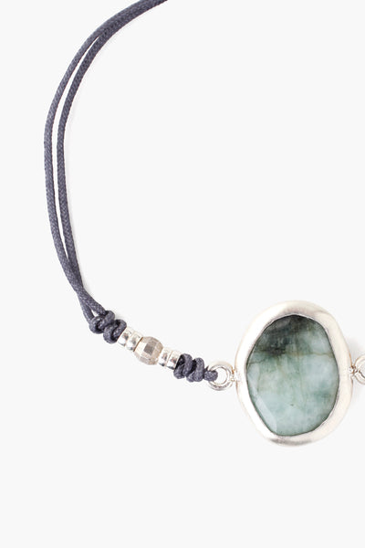 Cord Bracelet with Framed Stone - Big Bag