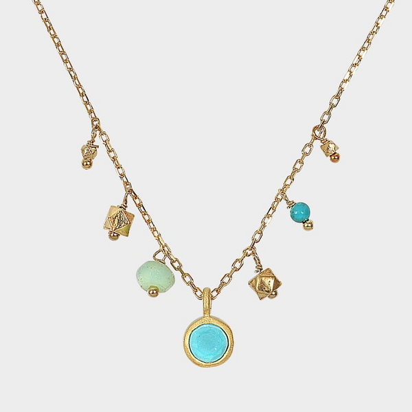 Loop Necklace in Turquoise - Big Bag