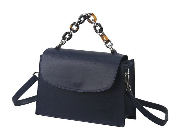 Tortoiseshell Handle Mini Flap Handheld Crossbody