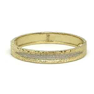 Gold Velen Crystal Inlay Bracelet - Big Bag