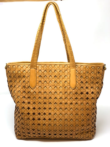 Rossi Large Basket Weave Leather Tote - Big Bag